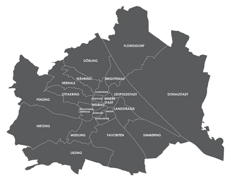 Schlüsseldienst Wien Einsatzgebiet